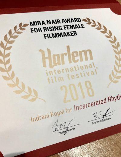 Mira Nair Award for Rising Female Filmmaker